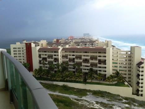 Cancun - widok na lagunę i ocean