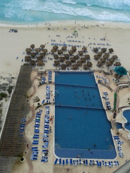 Cancun - widok na ocean